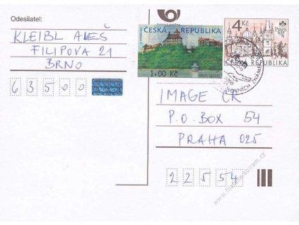 2000, dopisnice vyfr. zn. 1Kč automatová