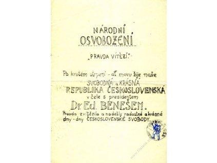 1945, Povstání, květen, povstalecký leták, A4