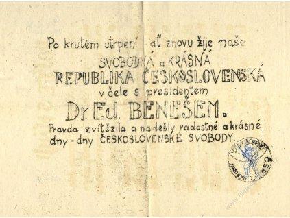 1945, Povstání, květen, povstalecký leták, A5