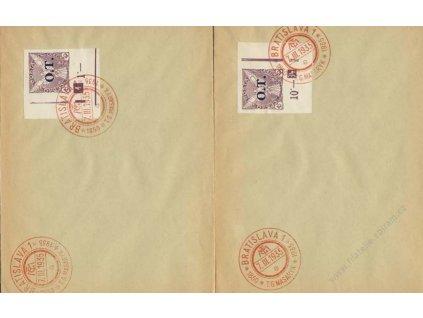 1935, 2 ks dopisů se zn. 10h O.T. s DČ