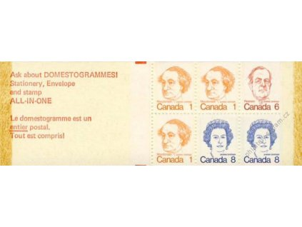 Kanada, známkový sešitek, **