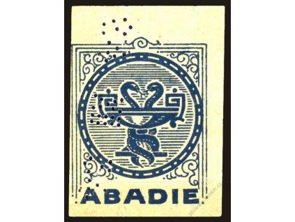 ABADIE, reklamní nálepka s perfinem
