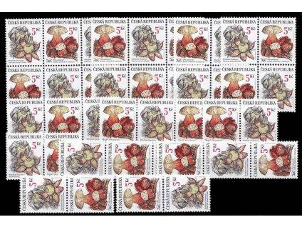 2000, 5-5.40Kč Houby, kompletní sestava kuponů, Nr.264-67, **