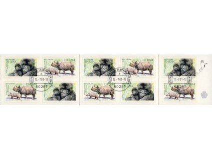 2001, Bedrohte Tierarten, sešitek, razítkované