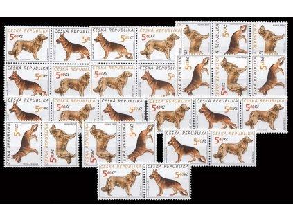 2001, 5.40Kč Psi, kompletní sestava kuponů, Nr.296-99, **