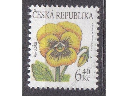 2002, 6.40Kč Maceška, falzum ke škodě pošty!, Nr.330, **, označeno jako padělek