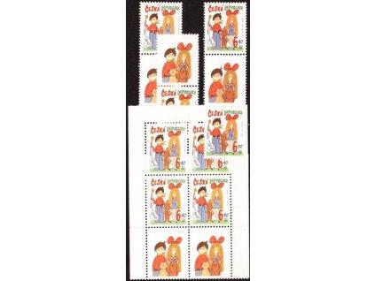 2003, 6.40Kč Dětem, varianty spojek + ZS, **