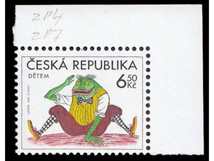 2004, 6.50Kč Žabák, DV - nedotisk červené barvy, **