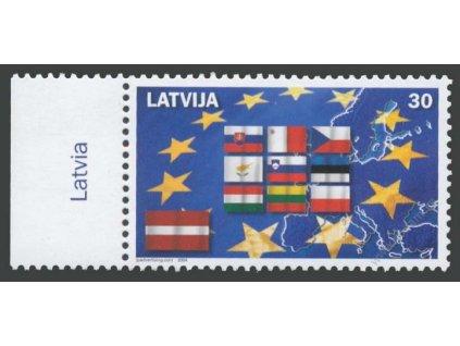 2004, 10 nových členů EU, Latvija, **