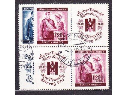 60h-1.20K ČK I, 4bloky, VK20, Nr.50-1, razítkované