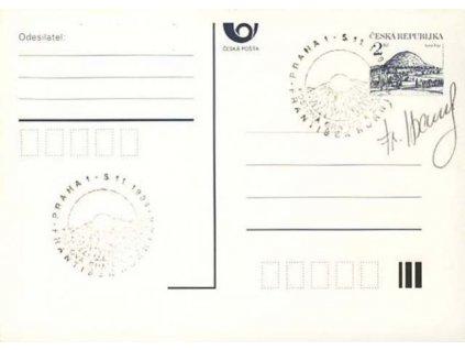 Horniak, podpis na dopisnici z roku 1994