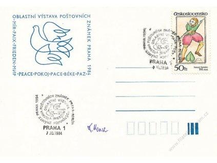Housa, podpis na výstavní kartě z roku 1984