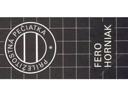 Horniak, podpis na rozkládacím propagačním listě