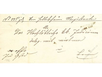 Holleschau, skládaný dopis z roku 1846