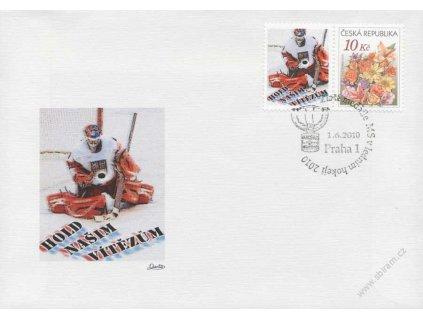 2010, Praha, MS v ledním hokeji, privátní kupón, obálka