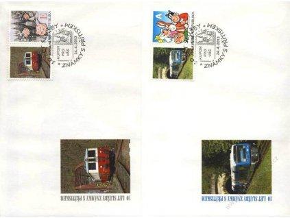 2013, 10. let služby známky s přítiskem, 2 ks obálek, drobné pokrčení