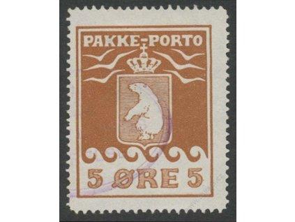 Grónsko, 1915, 5Q Medvěd, MiNr.6A, razítkované
