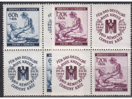 1941, 60h-1.20K Červený kříž, Nr.52-3, VK-20, **