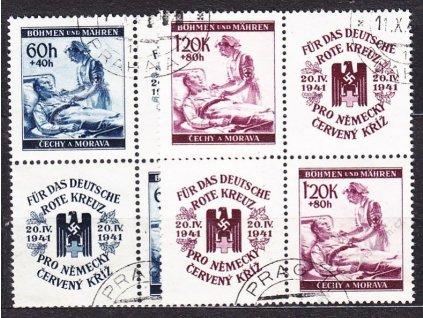 60h-1.20K ČK II, 4bloky, VK-20, Nr.52-3, razítk.