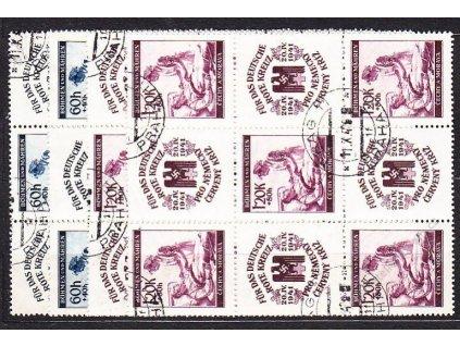 60h-1.20K ČK II, 9bloky, VK-21,22, Nr.52-3, razítk