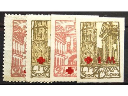 Litwa Šrodkowa, 1921, 2-4M série, * po nálepce
