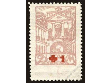 Litwa Šrodkowa, 1921, 2M+1M Červený kříž, *