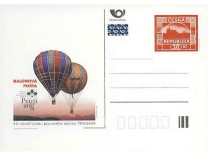 CDV 122 Praga 2008 – Balonová pošta