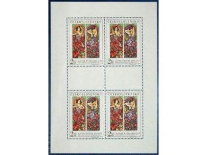 1969, 2.40Kčs PL - Umění A. Muchy, Nr.1777, **