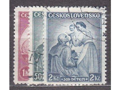 50-2Kč Dětem, série, Nr.295-7, razítkované, ilustrační foto