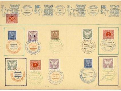1936, pamětní list, množství razítek, A4