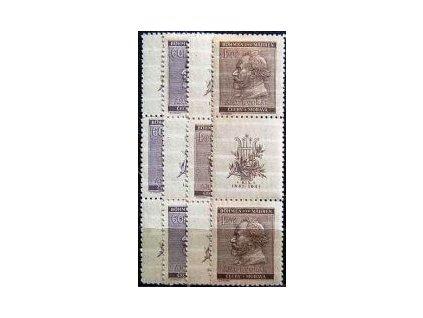1941, 60h-1.20K Dvořák, Nr.62-3, VK-15,16, **