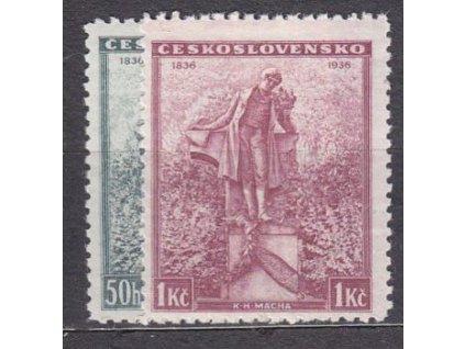 1936, 50h-1Kč Mácha, Nr.298-9, **