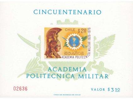 Chile, 1976, 2.50P Vojenská akademie, pamětní tisk, Nr.858, (*)