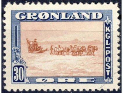 Gronsko, 1945, 30Q Psí spřežení, Mi.30Euro, **