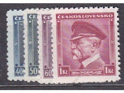 1936, 40h-1Kč Portréty, Nr.300-3, **