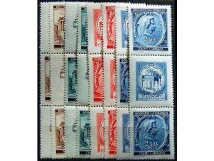 1941, 30h-2.50K Mozart, Nr.68-71,VK-15,16