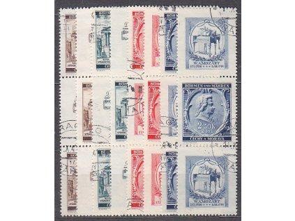 1941, 30h-2.50K Mozart, Nr.68-71,VK-15,16, razítkované, ilustrační foto