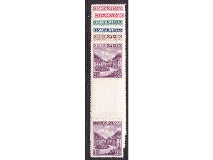1936, 1.20-3.50Kč Krajiny, trhaná meziarší, * po nálepce