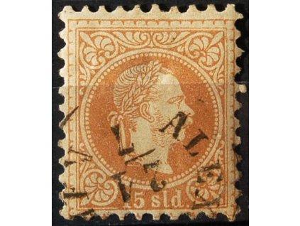 Levanta, 1867, 15So Franc Josef, jemný tisk, razítkované