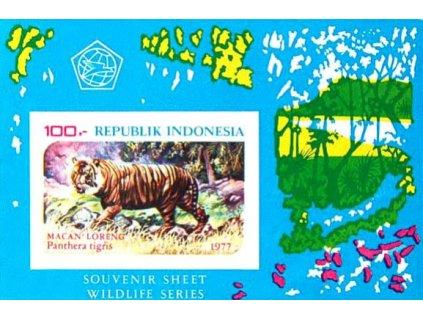 Indonesie, 1977, aršík, MiNr.Bl.25B, **