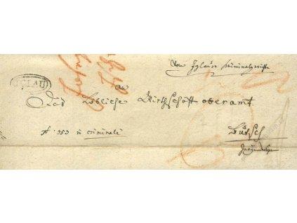 Iglau, skládaný dopis z roku 1832