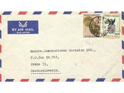 India, 1961, DR India, let. dopis, stopy pošt. provozu