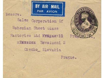 Indie, 1945, DR Delhi, let. celinová obálka