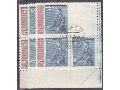 1942, 30h-2.50K 53.narozeniny A.Hitlera, Nr.74-7, VK-2, razítkované
