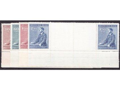 1942, 30h-2.50K Hitler, meziarší s dolním okrajem, Nr.74-7, **