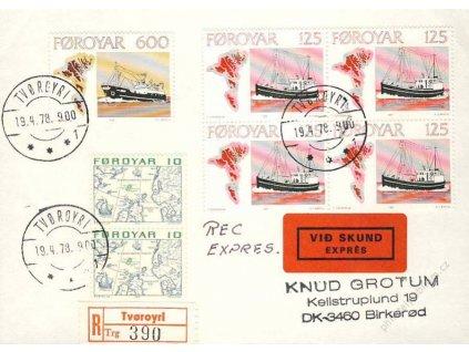 Foroyar, 1978, DR Tvoroyri, R-Ex dopis