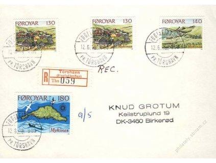 Foroyar, 1978, DR Torshavn, R-dopis, dv roh