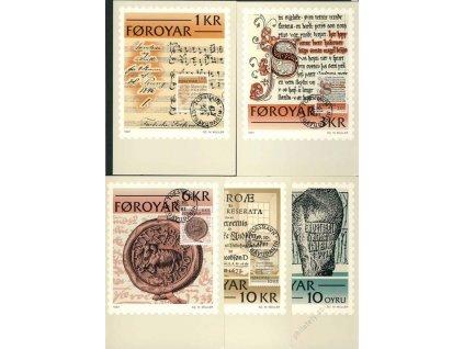 Foroyar, 1981, 5 ks Carte Maxima, dv roh