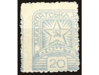 Karpatská Ukrajina, 1945, 20F Znak, MiNr.82, **