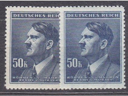 50K Hitler, 2 ks - odstíny barev, Nr.99, **